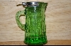 Reproduction Green Glass Syrup Pitcher #4815