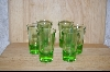 Set Of 6 Green Shot Glasses #5052