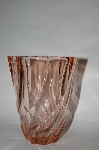 "**Vintage Pink Depression Glass ""Vase"" Made In France"