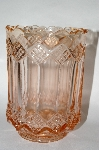 ** Vintage Pink Depression Glass Fancy Footed Vase