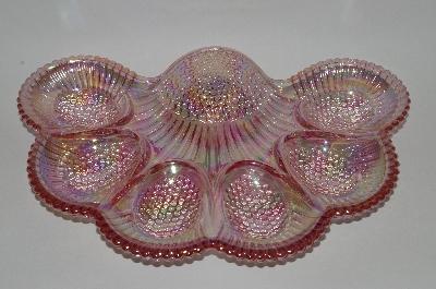 **MBA #63-113  Vintage Pink Carnival Glass 1950u0027s Deviled Egg Dish & Mama Bearu0027s Attic - Where Treasures Abound - **MBA