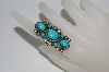 "**MBA #65-084   Artist Signed ""Mr. Charlie"" 7 Stone Blue Turquoise Ring"
