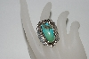 **MBA #65-159  Sterling Blue Turquoise Fancy Ring