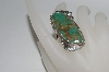 """SOLD""  Artist Signed Fancy Green Turquoise Ring"