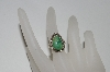 **MBA #65-221  Sterling Small Green Turquoise Ring