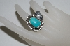 **MBA #65-209   Sterling Blue Turquoise Navajo Ring