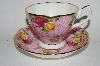 "+Royal Albert  ""2002"" Old Country Roses Dusky Pink Lace Cup & Saucer Set"