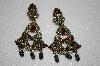 """SOLD""""Heidi Daus ""Black Matalic Bead & Crystal"" Clip On Earrings"