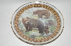 **Mother Bear & Cubs Ceramic Plate