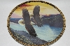 "**1994 John Pitcher ""By Dawn's Early Light"" On The Wings Of Eagles Plate Series"