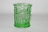 Vintage Green Glass Tooth Pick Holder