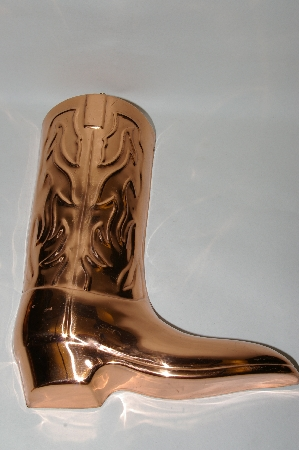 """SOLD""    25 Year Old Fancy Copper Cowboy Boot Jello Mold"
