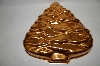 Vintage Copper Colored Aluminum XMas Tree Jello Mold