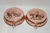 "20 Year Old Set Of 2 ""Strawberry Motif"" Copper Jello Molds"