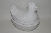 "+MBA #69-065  White Ceramic ""Chicken"" Serving Dish"