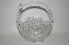 "MBA #69-229   ""Crystal Basket With Bird Motif Candy  Dish"