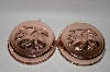 "Set Of 2 Copper 25 Year Old ""Plum"" Motif Jello Molds"