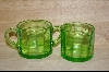 Green Sugar & Creamer Set #5114