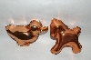 Set Of 2 Older Animal Shaped Copper Jello Molds