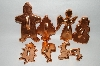 "MBA #70-7994  ""Set Of 7 Older Copper Christmas Cookie Cutters"