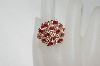 14K Ruby & Diamond Wide Top Ring