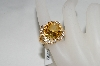 18K Vermeil Citrine,White Zircon & Diamond Accent Ring