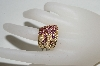 14K Yellow Gold Pink Tourmaline & Diamond Cascading Ring