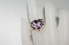 14K Yellow Gold Celebrity Pink Topaz  & Diamond Ring
