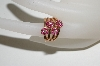14K Rose Gold Ruby 4 Flower Ring