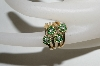14K Yellow Gold 4 Flower Emerald Ring