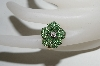 14K Yellow Gold Designer Tsavorite & Diamond Flower Ring