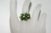 14K Yellow Gold Chrome Diopside & Diamond Ring