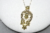 "14K Yellow Gold 5 Flower Yellow & White Diamond Pendant With 18"" Chain"