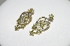 14K Yellow Gold 5 Flower Yellow & White Diamond Pierced Earrings