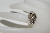 "MBA #77-113    ""14K White Gold Fancy Cognac & White Diamond Ring"