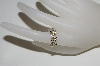 "MBA #79-107    ""14K White Gold 4 Stone Yellow Sapphire & Diamond Ring"