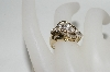14K Yellow Gold Round & Baguette Cut Diamond Ring
