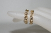 14K Yellow Gold  Sonia Bitton Diamond Hoop Earrings
