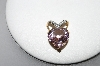 14K Yellow Gold Celebrity Pink Topaz Diamond Heart Pendant