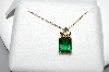 "14K Yellow & Rose Black Hills Gold Square Cut Helenite Pendant With 18"" Chain"