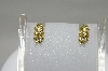 MBA #78-016     14K Yellow Gold 3 Flower Yellow & White Diamond Earrings