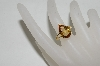 MBA #78-286     14K Yellow Gold Pear Cut Citrine Ring