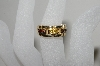 "MBA #78-031  "" 14K Yellow Gold Yellow & Red Diamond Link Look Diamond Ring"