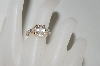 14K Yellow Gold Oval Cut Morganite & Diamond Accent Ring
