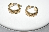 14k Yellow Gold Byzantine Style Hoop Earrings