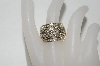 "MBA #77-014    ""14k Yellow Gold  Large Weave look Diamond Ring"