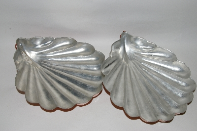 "+Set Of 2 Vintage ""Shell"" Copper Molds"