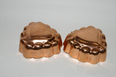 Set Of 2 Heart Shaped Copper Jello Molds