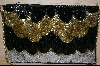 "MBA #SBHG    ""Hand Beaded Black, Silver & Gold Clutch Style Purse"