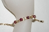 14K Yellow Gold One Of A Kind  Ladies Fancy Cut Pink Tourmaline & Diamond Bracelet